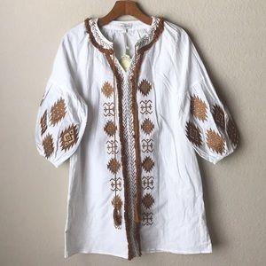 Velzera Embroidered Tunic Dress
